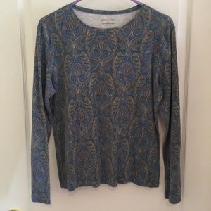 Large Blue paisley tshirt